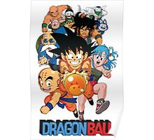 DRAGON BALL FULL WHITE Poster