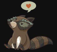 Funny little raccoon love you Kids Tee