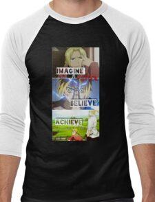 manga -full metal alchemist- Men's Baseball ¾ T-Shirt