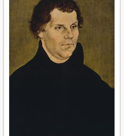 Martin Luther Painting Sticker