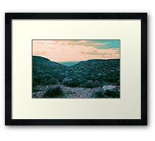Utah Sunset Framed Print