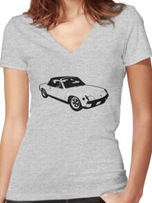 Porsche 914 - Front Women's Fitted V-Neck T-Shirt