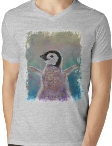 Baby Penguin Mens V-Neck T-Shirt