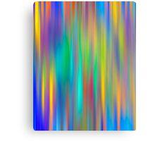 Rainbow Stripes abstract art Canvas Print