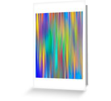 Rainbow Stripes abstract art Greeting Card