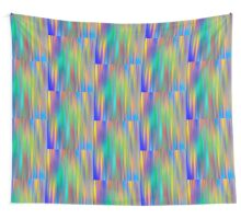 Rainbow Stripes abstract art Wall Tapestry