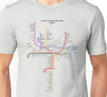 Literally Translated Metro Map - Valencia Unisex T-Shirt