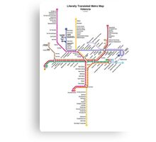 Literally Translated Metro Map - Valencia Canvas Print