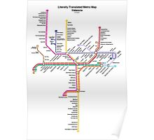 Literally Translated Metro Map - Valencia Poster