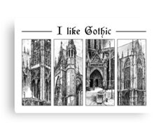I like gothic - ink graphic Canvas Print