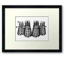 Exterminate ! -Gray Framed Print