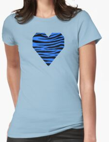 0372 Blue (Crayola) Tiger Womens Fitted T-Shirt