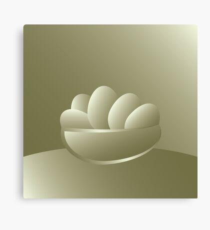 Golden Easter eggs Canvas Print