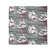 EmporiumBarnie green and pink paw prints design Scarf
