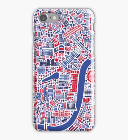 London City Map Poster iPhone Case/Skin
