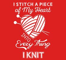 I Love to Knit.  Women's Fitted Scoop T-Shirt