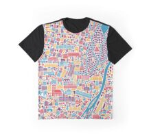 Munich City Map Poster Graphic T-Shirt