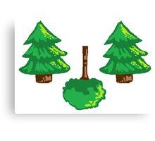 Pixel Trees Canvas Print