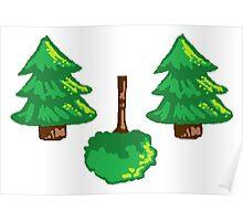 Pixel Trees Poster