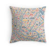 Amsterdam City Map Throw Pillow