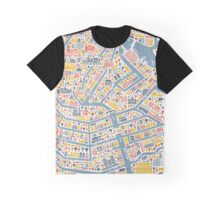 Amsterdam City Map Graphic T-Shirt