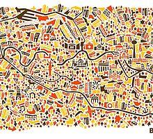 Berlin City Map by Vianina
