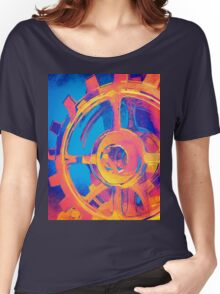 Abstract Macro Gears Women's Relaxed Fit T-Shirt