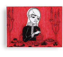 Sovereigns Hate Sweets - Red Canvas Print