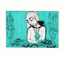 Sovereigns Hate Sweets - Blue Art Print