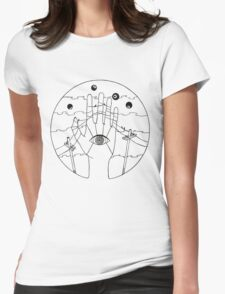 Communication - Black and White Womens Fitted T-Shirt