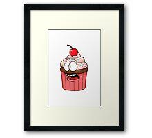 The Concerned Cupcake Framed Print