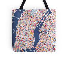New York City Map Tote Bag