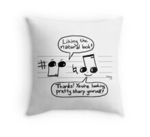 Musical Compliments Throw Pillow
