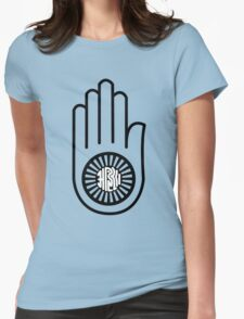 Ahimsa Hand Womens Fitted T-Shirt