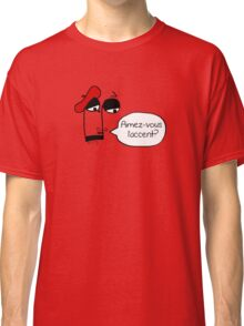 Aimez-vous l'accent? - Funny French Music Cartoon Classic T-Shirt