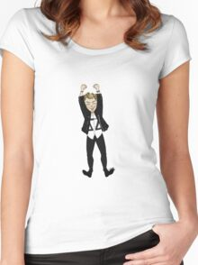 monsieur penguin Women's Fitted Scoop T-Shirt