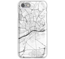 Frankfurt City Map Gray iPhone Case/Skin