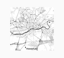 Frankfurt City Map Gray Unisex T-Shirt