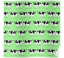 Cows pattern Poster