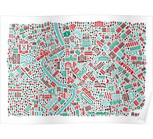 Rome City Map Poster