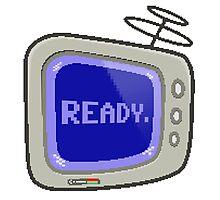 Commodore 64 Monitor Screen TV Photographic Print