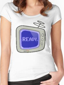 Commodore 64 Monitor Screen TV Women's Fitted Scoop T-Shirt