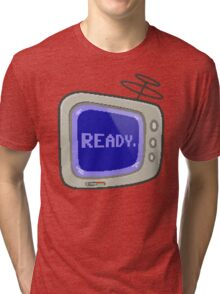 Commodore 64 Monitor Screen TV Tri-blend T-Shirt