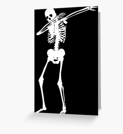 Dab Skeleton Art Greeting Card