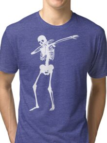Dab Skeleton Art Tri-blend T-Shirt