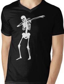 Dab Skeleton Art Mens V-Neck T-Shirt