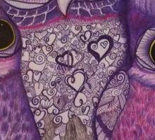 Owl Snuggles Sticker