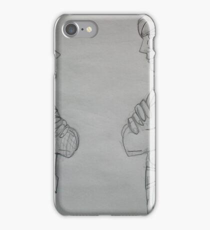 frente a frente a brazos cruzados iPhone Case/Skin