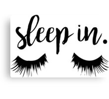 Sleep In Eyelash Print Canvas Print