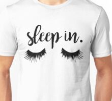 Sleep In Eyelash Print Unisex T-Shirt